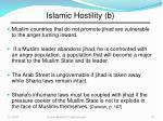 islamic hostility b