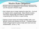 muslim ruler obligations