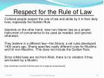 respect for the rule of law