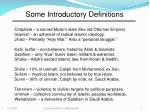 some introductory definitions