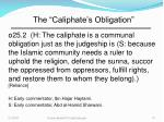 the caliphate s obligation