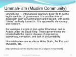 ummah ism muslim community