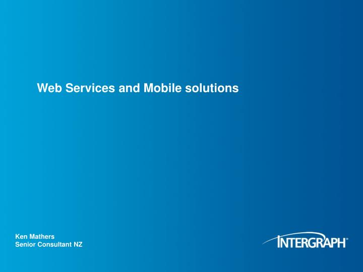 web services and mobile solutions n.