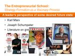 the entrepreneurial school strategy formation as a visionary process