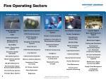 five operating sectors