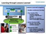 learning through lessons learned