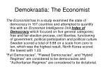 demokraatia the economist