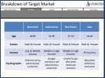 breakdown of target market