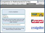 competition in netherlands turkey