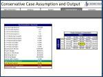 conservative case assumption and output