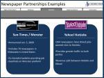 newspaper partnerships examples
