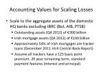 accounting values for scaling losses