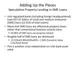 adding up the pieces speculative property lending in sme loans