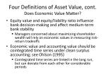 four definitions of asset value cont does economic value matter