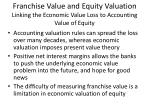 franchise value and equity valuation linking the economic value loss to accounting value of equity