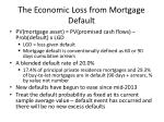 the economic loss from mortgage default