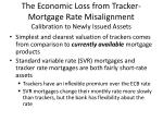 the economic loss from tracker mortgage rate misalignment calibration to newly issued assets