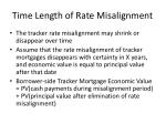 time length of rate misalignment