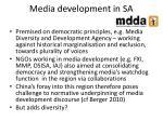 media development in sa
