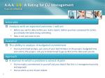 a a a 1 0 a rating for cu management a quick refresher