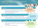 a a a 1 0 a rating for cu management a quick refresher1