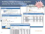 building a budget business as we build a solution for the accounting top 10