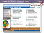 knowing your member analysis tools menu