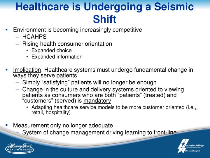 Healthcare is Undergoing a Seismic Shift