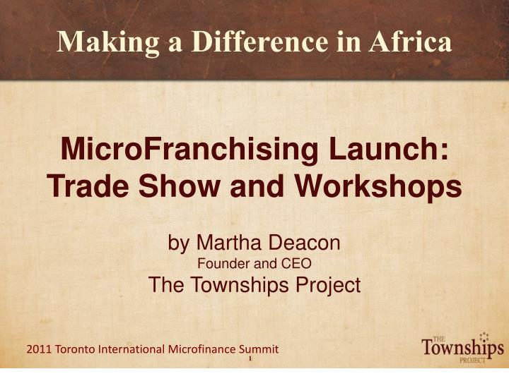 making a difference in africa n.