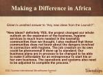 making a difference in africa21