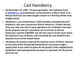 carl hansberry