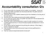 accountability consultation q s