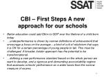 cbi first steps a new approach for our schools