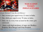 war against women indian scenario