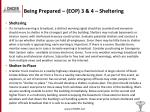 being prepared eop 3 4 sheltering