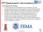 being prepared hics compliance