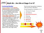 myth 6b are we at stage 3 or 6