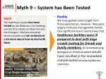myth 9 system has been tested
