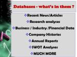 databases what s in them