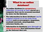 what is an online database