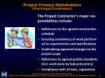 project primary stakeholders the project contractor1