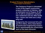 project primary stakeholders the project contractor3
