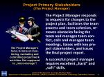 project primary stakeholders the project manager1