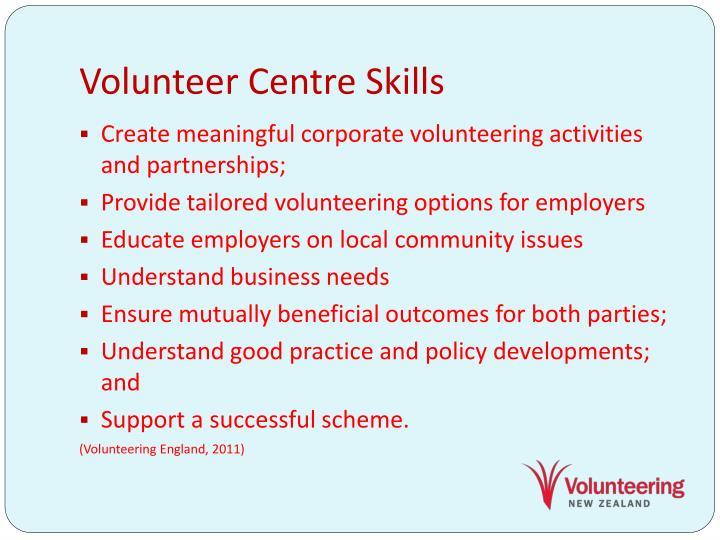 Volunteer Centre Skills