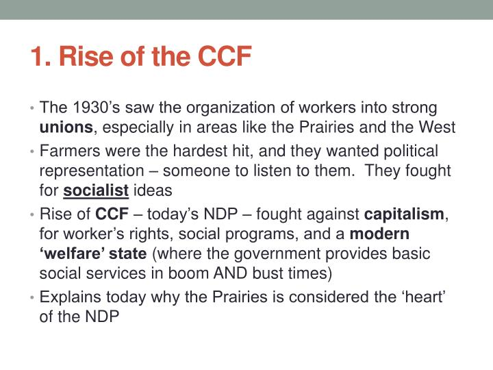1. Rise of the CCF