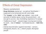 effects of great depression