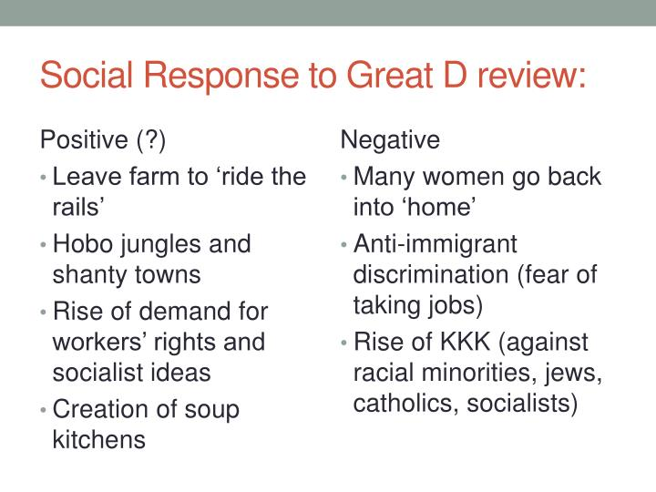 Social Response to Great D review: