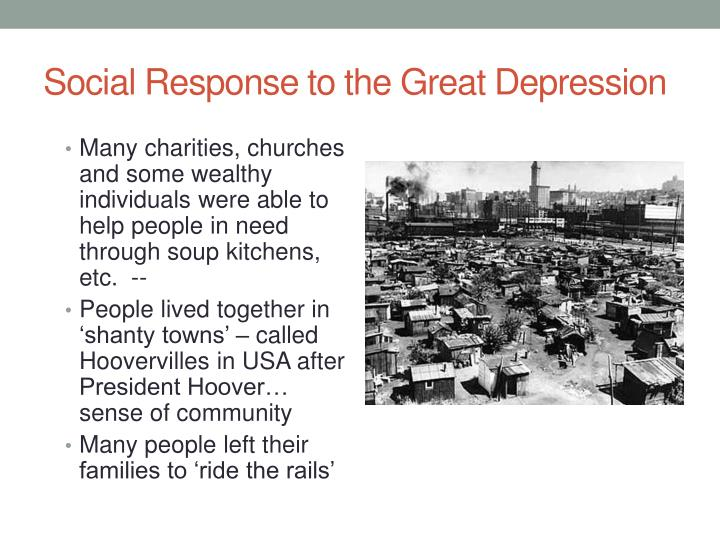 Social Response to the Great Depression