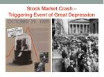 stock market crash triggering event of great depression