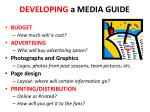 developing a media guide
